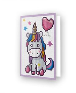 Carte de voeux Licorne coeur DDG.006
