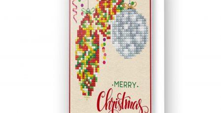 Carte de voeux Joyeux Noël rouge DDG.010
