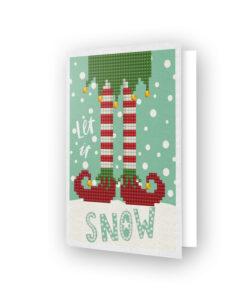Carte de voeux Let is snow DDG.021