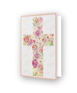 Carte de voeux Croix fleurie DDG.012