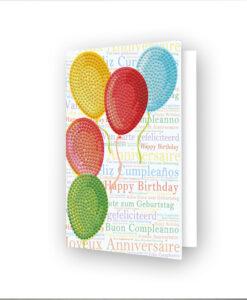 Carte de voeux Envol de ballons DDG.033